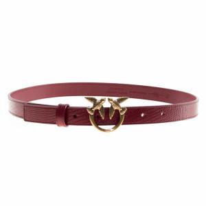 Pinko cintura donna in pelle rossa stampa rettile