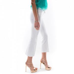 Pinko-jeans-bianco-a-zampa