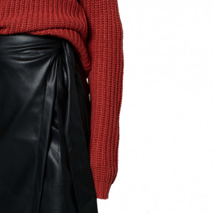 woman-long-skirt-ecoleather-black