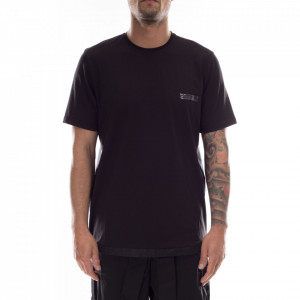 Studio Homme t-shirt nera coulisse
