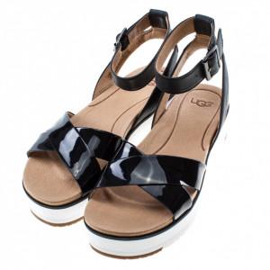 Ugg sandali con zeppa neri