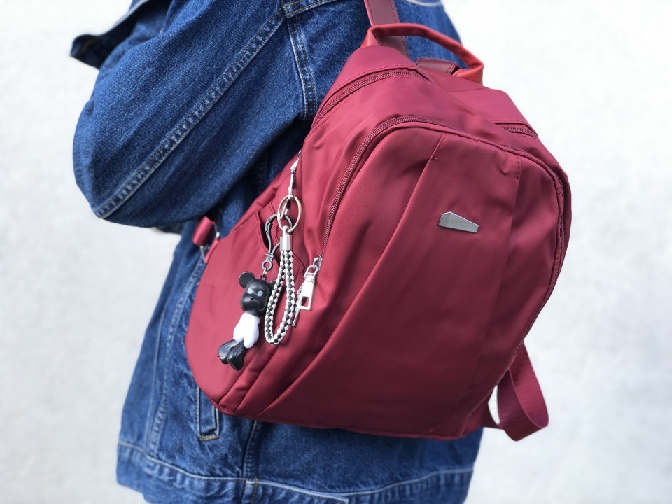 Rucsac Dama Oxford Double Red