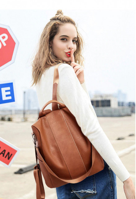 Rucsac Dama Convertible Rumba Brown