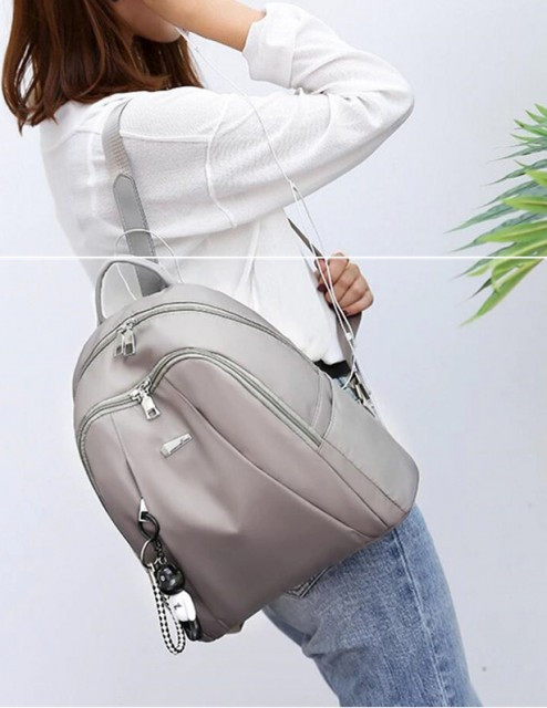 Rucsac Dama Oxford Double Beige