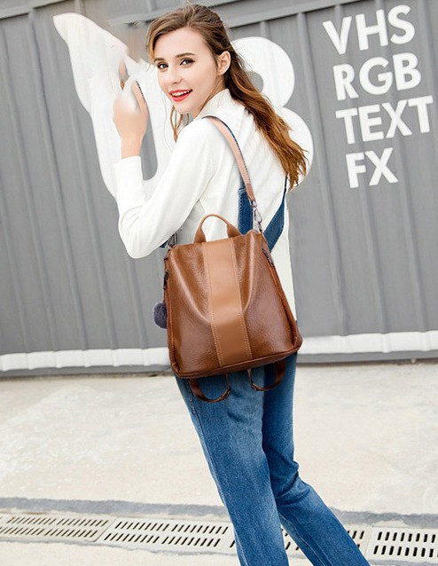 Rucsac Dama Convertible Pilsen Brown