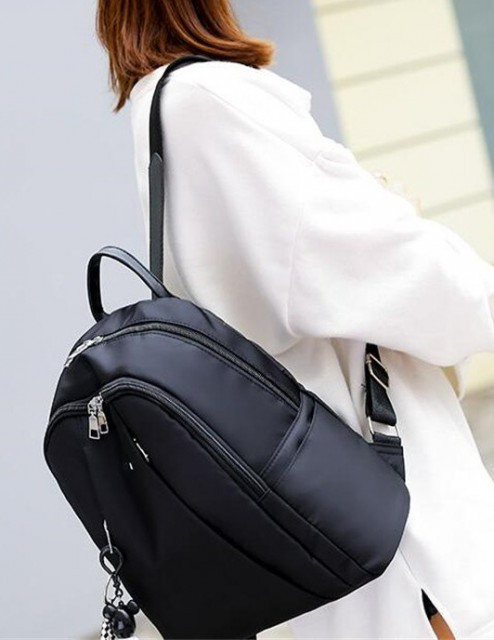 Rucsac Dama Oxford Double Black