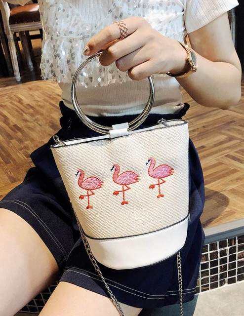Geanta Flamingo White