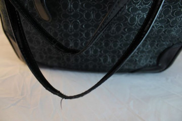 Poze Geanta Coach Poppy Tote in Signiture Black & Silver*