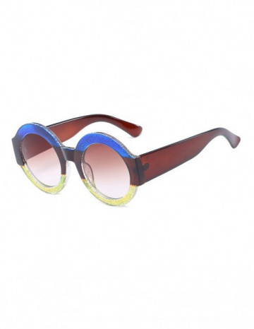 Poze Ochelari de Soare Rotunzi Maximus Blue-Brown-Yellow Degrade