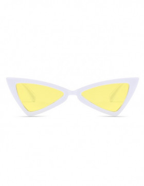 Ochelari de Soare Cat Eyes Treviso White Yellow Transparent