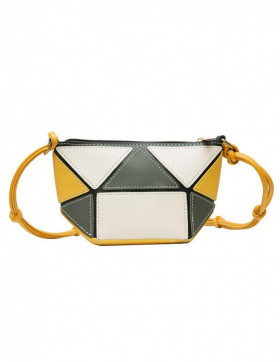 Geanta Dama Geometry Yellow & Grey