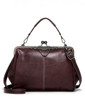 Geanta Dama Vintage Dark Brown
