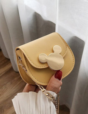 MiniGeanta Dama Minimalist Mickey Yellow