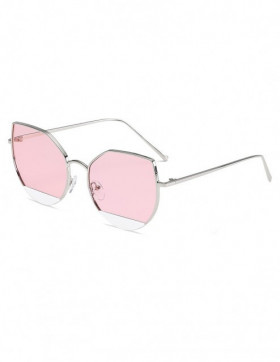 Ochelari de Soare Cat Eyes Fair Pink Transparent