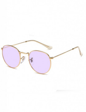 Ochelari de Soare Retro Ovali Insightful Purple Transparent
