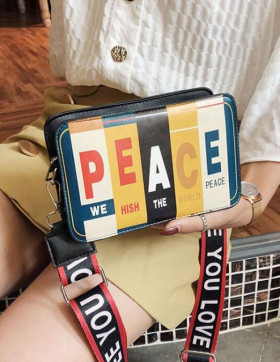 Geanta Dama Peace Black
