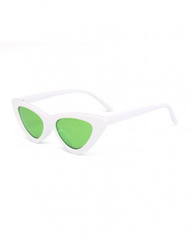 Ochelari de Soare Cat Eyes Venice White - Green Transparent