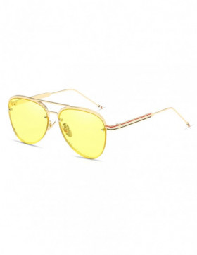 Ochelari de Soare Aviator Fierce Yellow Transparent