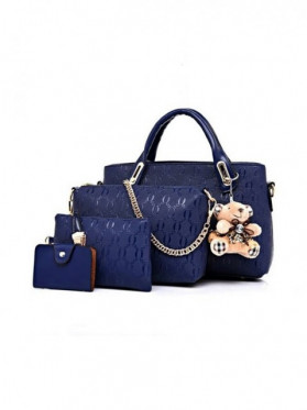 PRECOMANDA Set Genti Dama Teddy Courtney Blue
