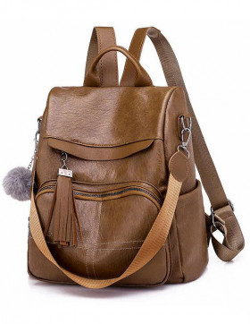 Rucsac Dama Convertible Clap Brown*