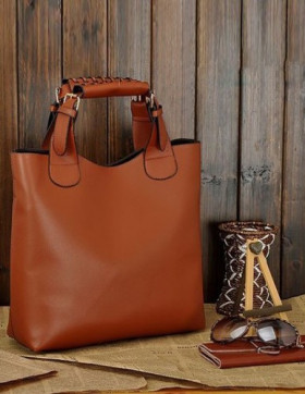 Geanta + Plic Paris Brown
