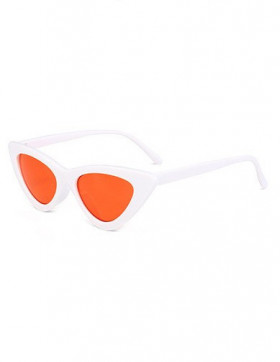 Ochelari de Soare Cat Eyes Venice White - Orange Transparent
