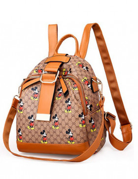 Rucsac Dama Convertible Potter Mickey Brown*