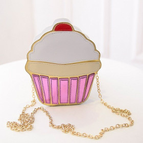 Geanta Cartoon Cup Cake White