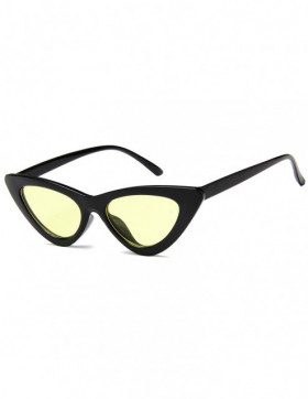 Ochelari de Soare Cat Eyes Venice Black - Yellow Transparent