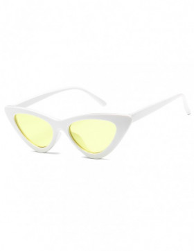 Ochelari de Soare Cat Eyes Venice White - Yellow Transparent