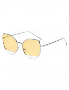 Ochelari de Soare Cat Eyes Fair Yellow Transparent