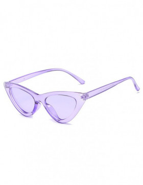 Ochelari de Soare Cat Eyes Venice Purple - Purple Transparent