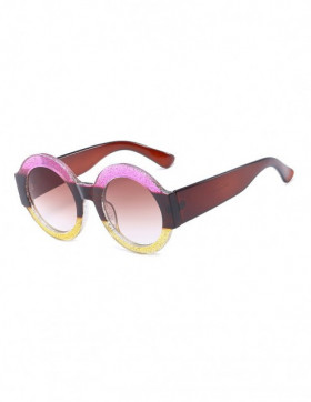 Ochelari de Soare Rotunzi Maximus Pink-Brown-Yellow Degrade