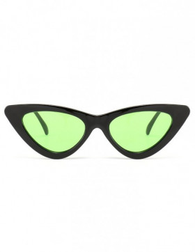 Ochelari de Soare Cat Eyes Venice Black - Green Transparent