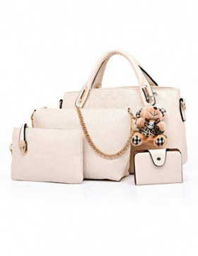 PRECOMANDA Set Genti Dama Teddy Courtney Light Beige