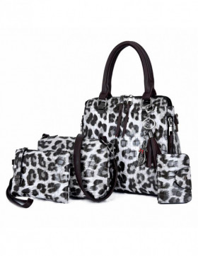 Set Genti Dama Hilltop Animal Print Grey