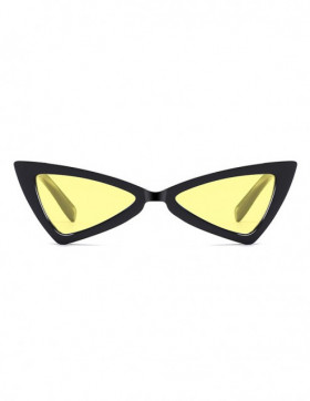 Ochelari de Soare Cat Eyes Treviso Black Yellow Transparent