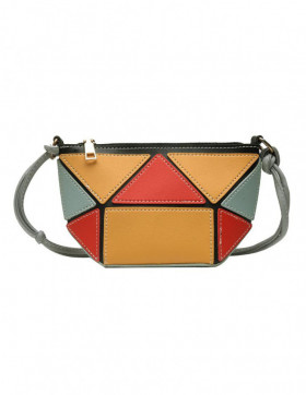 Geanta Dama Geometry Red & Yellow