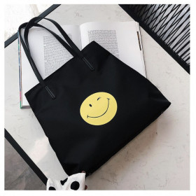 Geanta Dama + Plic Smiley Black