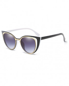 Ochelari de Soare Cat Eyes Smart Black White Inside
