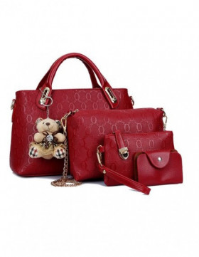 PRECOMANDA Set Genti Dama Teddy Courtney Red