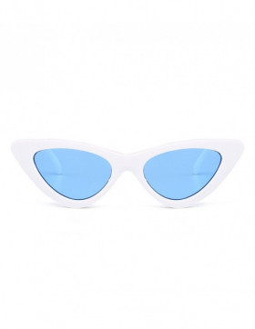 Ochelari de Soare Cat Eyes Venice White - Blue Transparent