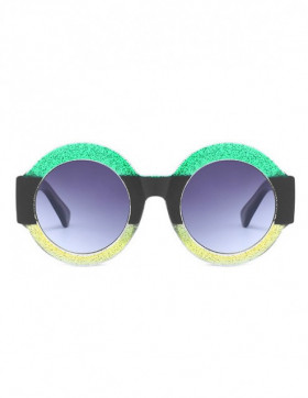 Ochelari de Soare Rotunzi Maximus Green - Black - Yellow Degrade