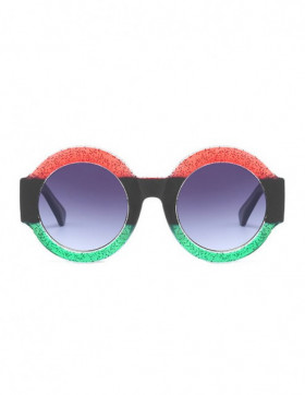 Ochelari de Soare Rotunzi Maximus Red-Black-Green Degrade