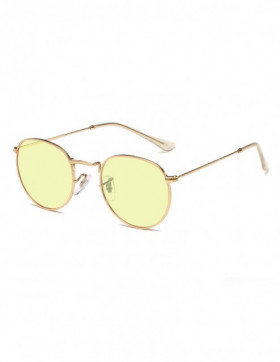 Ochelari de Soare Retro Ovali Insightful Yellow Transparent
