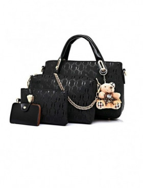 PRECOMANDA Set Genti Dama Teddy Courtney Black