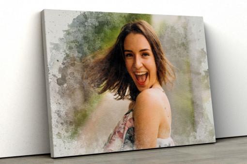 Canvas Personalizat - Efect de Pictura Splash