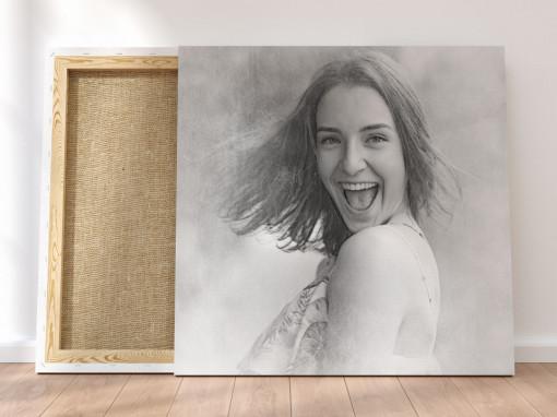 Canvas Personalizat - Efect Schita Black & White