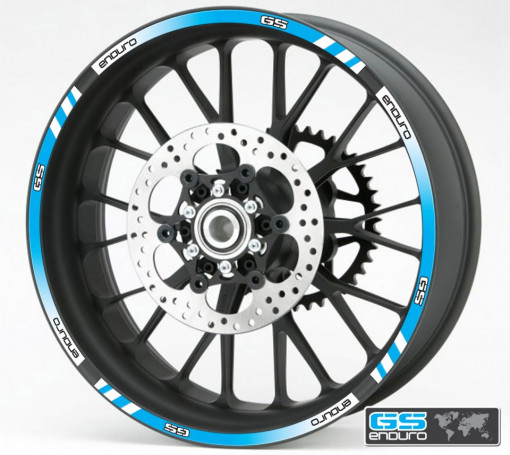 Rim Stripes - BMW GS Enduro albastru
