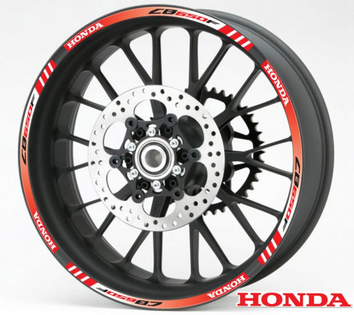 Rim Stripes - Honda CB650F rosu